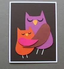 Картинки по запросу аппликация совы из цветной бумаги