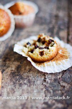 Un généreux goût de vanille pour ces muffins aériens aux pépites de chocolat