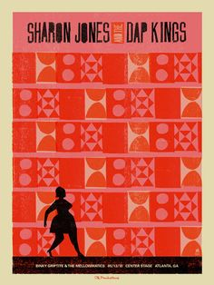 Sharon Jones and the Dap Kings concert poster by Methane Studios