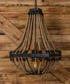 Rope Chandelier - this is way cool!
