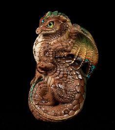 "Windstone Editions ""Earthen Fey 1"" Young Dragon Figurine Fantasy Statue | eBay"