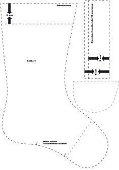 bastelideen f r weihnachten schnittmuster nikolausstiefel bastelvorlage basteln mit filz. Black Bedroom Furniture Sets. Home Design Ideas