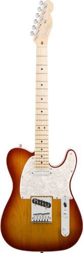 Fender American Deluxe Telecaster® Electric Guitar, Aged Cherry Burst, Maple Fretboard -   A compound allows exhilaratingly effortless string bending anywhere along the neck. New N3 noiseless pickups provide improved Telecaster tones for snappy bell-like chime with no hum. S-1 switching offers even more knockout tonal options. Hi Tech Molded SKB Case, Cable, Strap, and Strap locks... - http://guitarsandmusicstore.com/fender-american-deluxe-telecaster-electric-guitar-aged-che