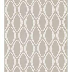 Brewster Home Fashions Echo Design Diamond Geometric Wallpaper in Cream / Gray