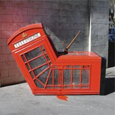 Banksy vandalised-phonebox