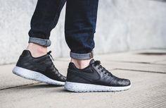 New Nike Roshe Tiempo VI 'Black Leather' #nike #sneaker #running #nikeroshe #roshe #tiempo #blackleather