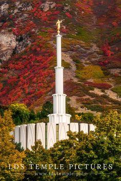 Provo Utah Temple Autumn Hills