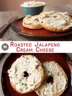 Roasted jalapenos and cheddar mashed in with cream cheese is the perfect savory topper for toasted bagels! Won't find this in the stores!