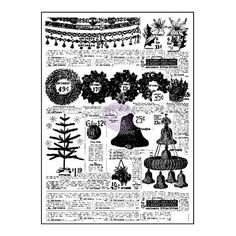 Christmas Background Stamp, Christmas Stamp, Old Advertising Stamp, Prima Sweet Peppermint Stamps, Christmas Cling Stamps, Background Stamps by OneDayLongAgo on Etsy