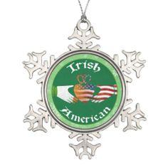 Shop Brooklyn Irish American Christmas Tree Decoration created by Celticana.