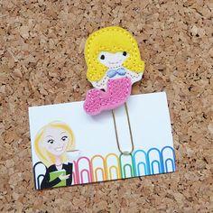 Felt Paper Clip | MERMAID Planner Clip | Bookmark | Paper Clip  |  Refrigerator Magnet | Cute Brooch Pin | Filofax | Blonde 350