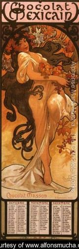 The Four Seasons: Autumn. 1897 - Alphonse Maria Mucha - www.alfonsmucha.org