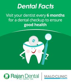 Dental #Facts  Visit your dentist every 6 months for a dental checkup to ensure good health  #good #health #dentist #rajandental