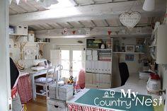 Armonia di colori: nuovi cambiamenti in craft room http://www.mycountrynest.org