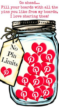 Go ahead... fill your Pinterest boards with all the pins you like, I love shaing them and I have no pin limits <3 Tam <3