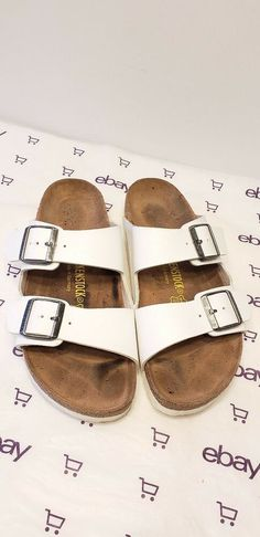 separation shoes 0d236 e31bd Birkenstock Arizona Birko Flor Sandals Size 41 White womens fashion  clothing shoes