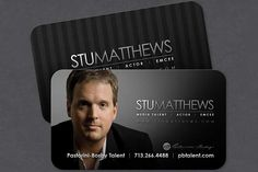 19 best actor business cards templates images on pinterest dark elegant actor business card design with photo created by coloredbean for stu matthews an colourmoves