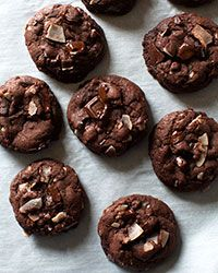 Chocolate Coconut Snap Cookies Recipe on Food & Wine