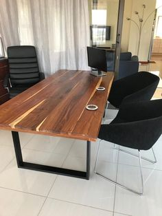 Industrial design metal legs kiaat office desk that can be used for a dining table as well Dining Tables, Industrial Design, Office Desk, Legs, Metal, Furniture, Home Decor, Kitchen Dining Tables, Desk Office