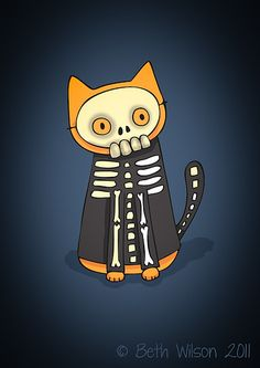 Skeleton Cat (by starpixie)
