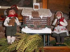 """Hansel and Gretel with Pretzel Cabin""-Available at Country Connections in Stuarts Draft, Va"