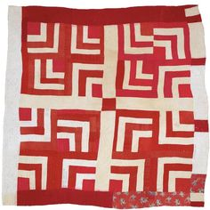 gees bend quilt /red & white
