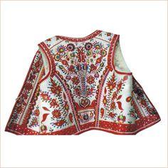 kožušinové vesty - Ľudová výšivka - Anna Šimková, Hrochoť Ethnic Outfits, Ethnic Clothes, Folk Costume, Costumes, Folk Clothing, Bobbin Lace, My Heritage, Boho Shorts, Folk Art