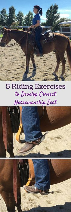 Equestrian exercises | Develop the correct horsemanship seat for horse-showing success with these five riding exercises.