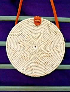 db443ae1a Details about Bali Island Hand-Woven Rattan Bag Straw Purse Cross-body Beach  Handbag Shoulder