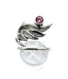 Princess Kylie 925 Sterling Silver Skull with Angel Wing Ring