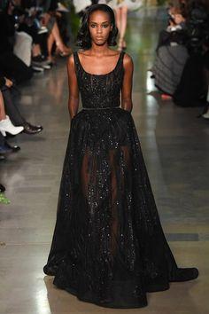 Really pretty. Black gives it a longer life. Add a lining/slip. (Elie Saab)