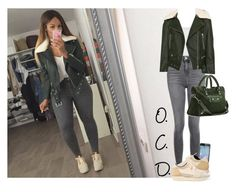 """""""Khaki In Fall."""" by oreocaker ❤ liked on Polyvore featuring Topshop, Piel Leather, Balenciaga and Frontgate"""