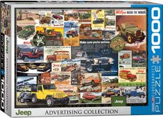 Vintage Jeep Advertising Collage Jeep Willys Poster Art Print Affiliate x Jeep Vintage, Vintage Ads, Cj Jeep, Jeep Willys, Jeep Wheels, The Great Escape, Beautiful Posters, Car Advertising, Jeep Grand Cherokee