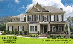 Garrell Associates, Inc.Edenton House Plan 01171, Front Elevation, Farmhouse Style House Plans, Southern Style House Plans, (4,691 s.f.) Design by Michael W. Garrell