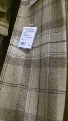 Wool Tartan Check Plaid Red Oatmeal Curtain & Upholstery Fabric ...