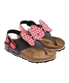 Mouseketeers will fall head over heels for these sandals. Their back strap adjusts the fit and also removes to create a new look. Rich in comfort and quality, they feature a contoured footbed and traction sole that make it easy for little ones to run and play all day.Buckle closureBirko-Flor upperCork footb...
