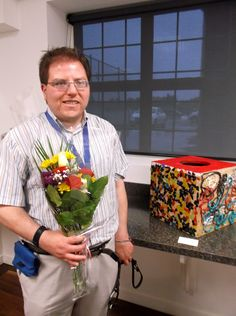 """2014 JC In-House Award Winner Andrew Harding for his mixed media artwork """"Fibre Craft Box"""" Disability Art, Mixed Media Artwork, Craft Box, Award Winner, Awards, House, Home, Homes, Houses"""