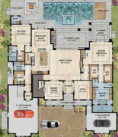 High-End Florida House Plan - 31838DN | 1st Floor Master Suite, Butler Walk-in Pantry, CAD Available, Den-Office-Library-Study, Elevator, Florida, Loft, Luxury, PDF, Southern | Architectural Designs