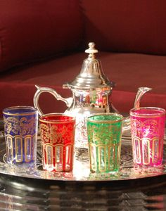 Moroccan Tea Set for Four