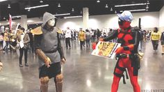 Amon does not approve of Deadpool's bending (gif)