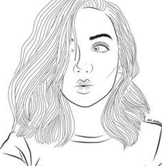 картинки для срисовки карандашом девушки: 13 тыс