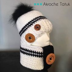 Pattern only! Rustik kit crochet pattern by Akroche Tatuk (english and french). Crochet Mittens, Crochet Slippers, Crochet Scarves, Crochet Hats, Crochet Girls, Crochet For Kids, Free Crochet, Knit Crochet, Loom Knitting