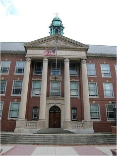 Boston Latin School - the first public school in America, est. 1635.  The only good things are the goods of the soul.