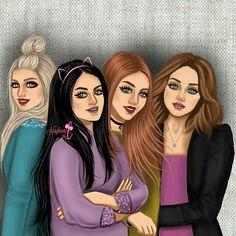 girly_m friends in school Girly M, Best Friend Drawings, Girly Drawings, 4 Best Friends, Best Friends Forever, Princesse Disney Swag, Sarra Art, Cute Girl Drawing, Poster S