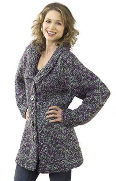 Chunky Jacket Pattern - Caron International Yarns and Latch Hook Kits