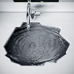 Arctic bathroom #sink by KO+KO architects