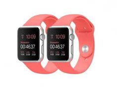 Apple Watch Sports 42mm Silver Aluminum Case (Red)-2016