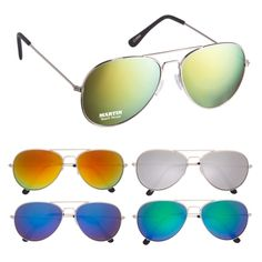 #6245 Color Mirrored Aviator Sunglasses