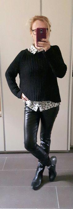 #BlackandWhite, #Silk Turtle Neck, Silk, Sweaters, Dresses, Fashion, Vestidos, Moda, Pullover, Sweater