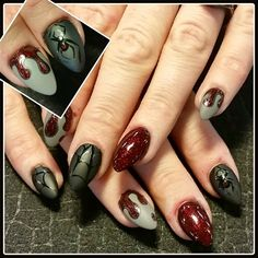 matte spiders 2 by Oli123 - Nail Art Gallery nailartgallery.nailsmag.com by Nails Magazine www.nailsmag.com #nailart